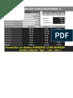 Gorgonoid - Planilha de Divisão de Refeições