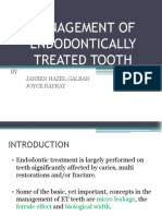 Management of Endodontically Treated Tooth