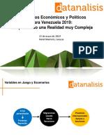 Resumen Escenarios Datanalisis Seminario Mayo 2019