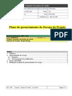 EXEMPLO - Plano de Gerenciamento Do Escopo