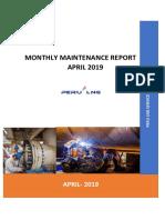 Monthly Maintenance Report Confipetrol - April 2019