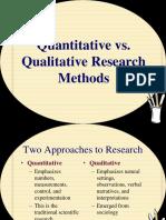 4. Comparison of Qualitative and Quantitative Research