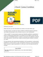 ### Coluna Futuro Fiscal Contas Contabeis Copia