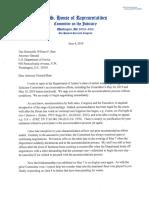 U.S. House Judiciary Chairman Nadler Response To AG Barr on DOJ Demanding Contempt Vote Cancellation 6.4.2019