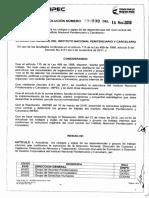 Resol 599 16MAR18 Por La Cual Se Actualiza Los Códigos y Siglas de Las Dependencias Del Nivel Central Del INPEC