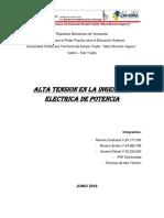 Alta Tension en La Ing. Electrica de Potencia