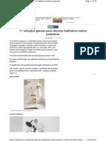 11 Soluções Geniais Para Decorar Banheiros Muito Pequenos