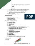 Contenidos Minimos Del Perfil de Un Proyecto de Inversion Publica Según Sinp