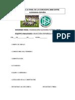 Análisis de La Final de La Eurocopa 2008 Entre Alemania