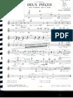 Deux Pieces, Edison Denisov, Sax Alto Et Piano