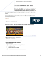 Formulario de Segumiento Pngrd 2015-2025 -Municipal