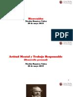 20 Mayo 2019 Actitud Mental y Trabajo Responsable Nrry