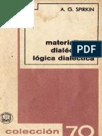 Materialismo Dialectico y Logica Dialectica