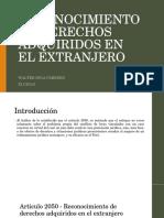 RECONOCIMIENTO DE DERECHOS ADQUIRIDOS EN EL EXTRANJERO - PERU