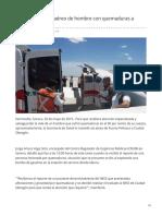 20-05-2019 - Realizan traslado aéreo de hombre con quemaduras a Obregón - kioscomayor.com