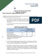 Encuesta Nacional de Ocupación y Empleo - Campeche 1er trimestre 2019