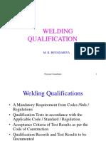 w Welding Qualification