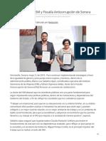 21-05-2019 - Firman convenio ISM y Fiscalía Anticorrupción de Sonora - h.canalsonora.com