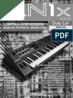 Yamaha An1x Datalist