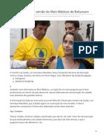 2019_MAI. Como Será a Nova Versão Do Mais Médicos de Bolsonaro