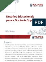 Apresentação Da Aula de Desafios Educacionais Para a Docência Superior