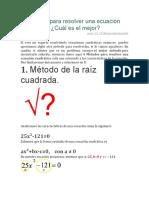 4 Métodos Para Resolver Una Ecuación Cuadrática