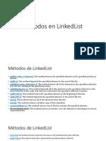 Metodos en LinkedList