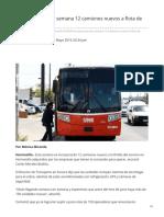 21-05-2019 - Incorporarán esta semana 12 camiones nuevos a flota de Hermosillo - Uniobregon.com