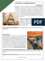 O Impressionismo e o Expressionismo
