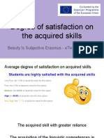 Student Degree of Satisfaction on the Acquired Skills