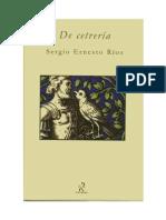 DE CETRERÍA Sergio Ernesto Ríos