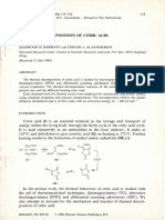 Thermal Decomposition of Citric Acid