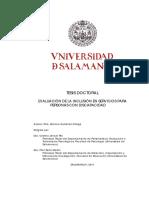 evaluacion de servicios en psd