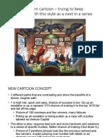 2018 Letter Cartoon Concept