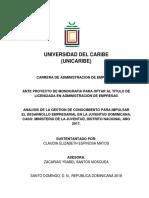 Espinosa Claudia- Ante Proyecto Administracion de Empresa