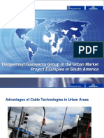Doppelmayr Garaventa Group in the Urban Market/ Advantages and actual data
