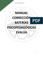 Manual Corrección Baterías Psicopedagógicas Evalúa Parte Manual