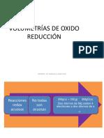 Volumetrías de Oxido Reducción