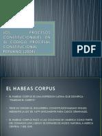 El Proceso de Habeas Corpus en El Codigo