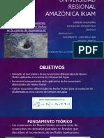 Aplicación de las ecuaciones diferenciales de Navier Stokes en la carrera de Ciencias del Agua
