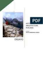 Ensayo Territorio Inca- Chuta Sinarahua Carlos