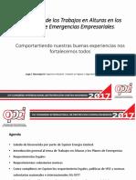 Trabajos en Altura vs Planes de Emergencias