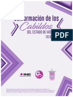Conformación de los cabildos del estado de Morelos 2019-2021