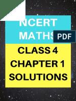 Chap 1 solution  , math ncert cls 4