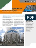 Hydraulic emergency shut-off system for pressurised liquefied gas storage tanks