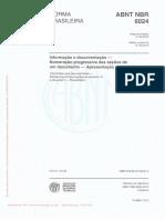 NBR 6024 2012 Numeração Progressiva