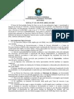 Edital SERVIÇO PÚBLICO FEDERAL UNIVERSIDADE FEDERAL DO PARÁ