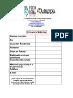 Ficha de Inscripción Cursos CELAPPA CHILE