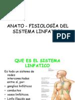 Anato - fisiología Linfática.