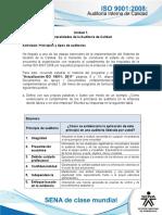 """Complementarios SENA_..ISO 90012008 AUDITORIA INTERNA de CALIDAD_Actividades Unidad 1_Actividad """"Principios y Tipos de Auditorías - Taller 1"""